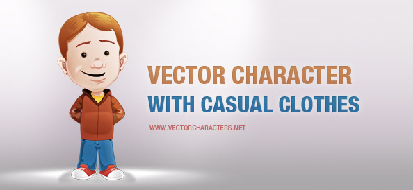 Vector Character with Casual Clothes