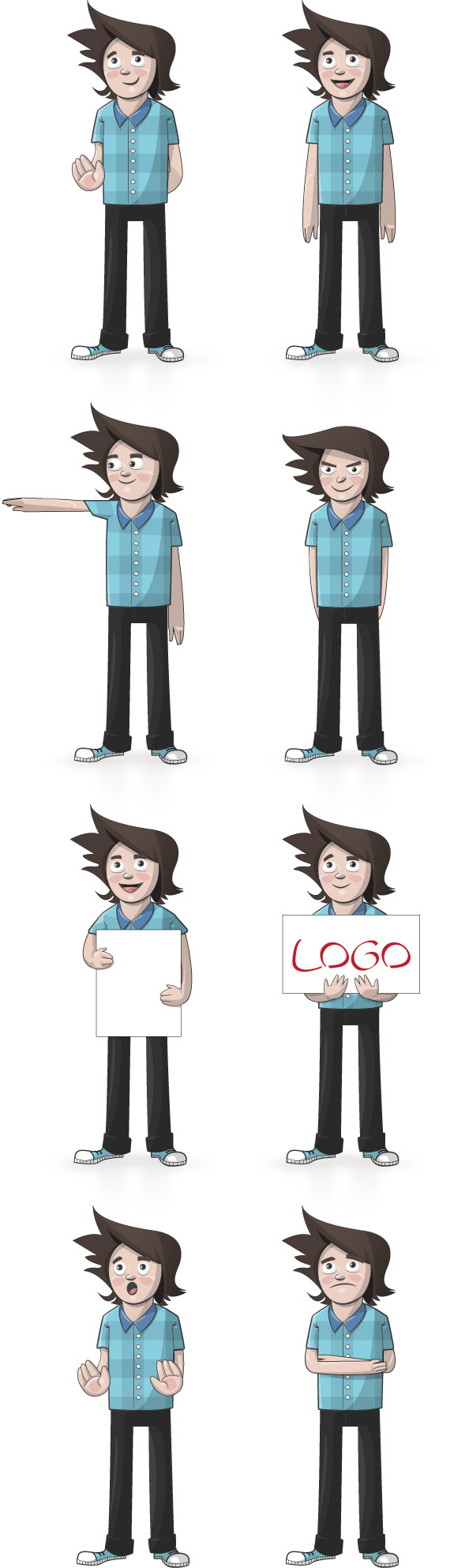 Boy Vector Illustration Preview Full