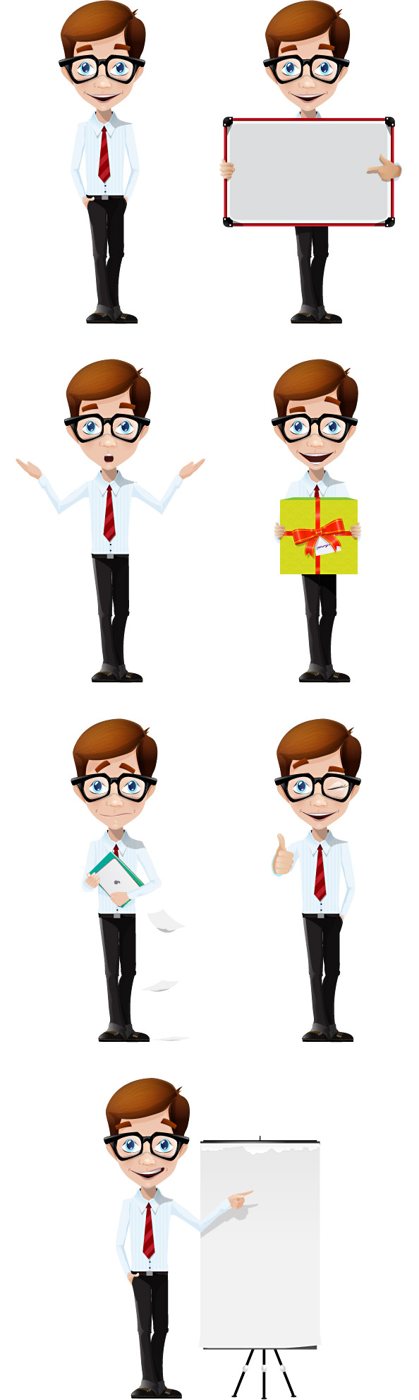 Business Boy Vector Character Preview Big