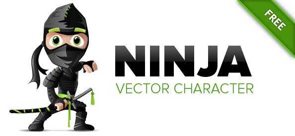 Ninja Vector Character