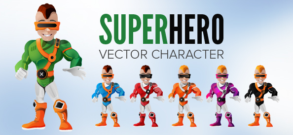 Free Superhero Vector Character