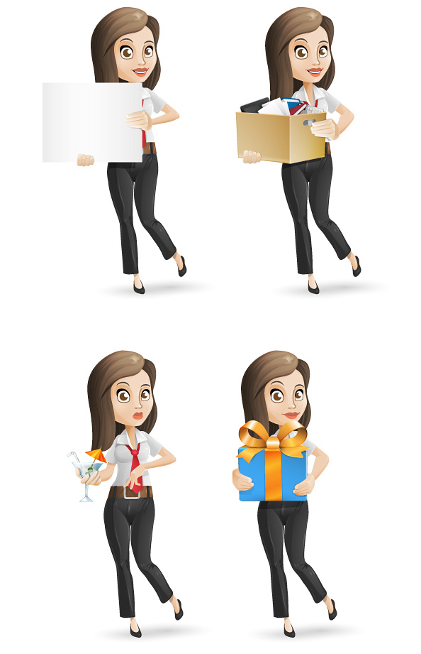 Character Design From The Ground Up Pdf Download : Business woman vector character characters
