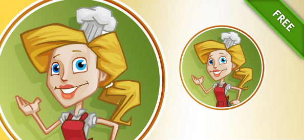 Woman Chef Vector Character