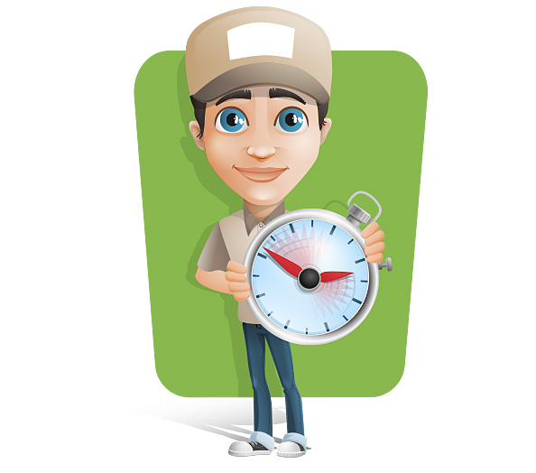 Delivery Man Vector Character Preview