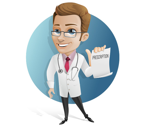 Doctor Vector Character Holding a Prescription Preview