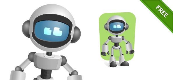 Vector Robot Character