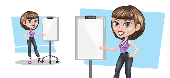 Vector Presentation Girl