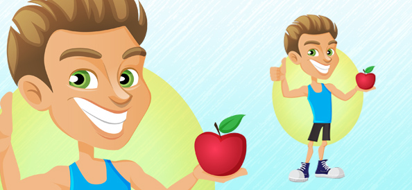 Fitness Instructor Vector Character