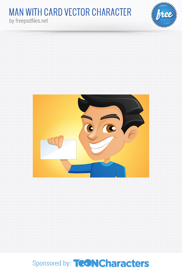 Man with Card Vector Character