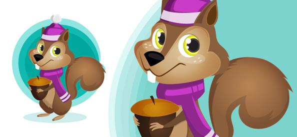 Squirrel Vector Character