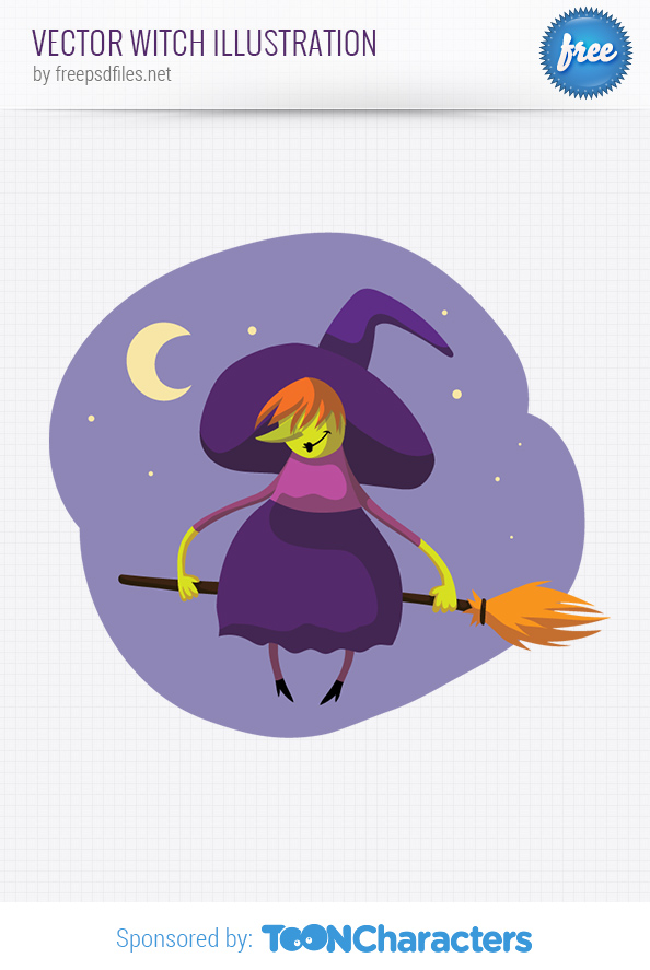 Vector Witch Illustration