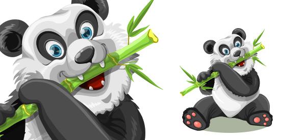Cute Free Vector Panda Character
