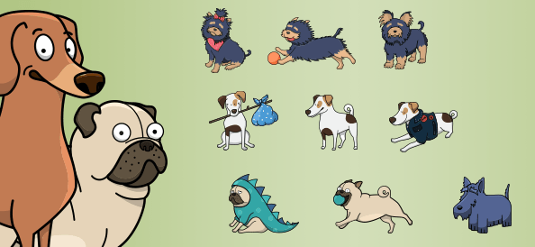 Vector Dogs Collection vol.1