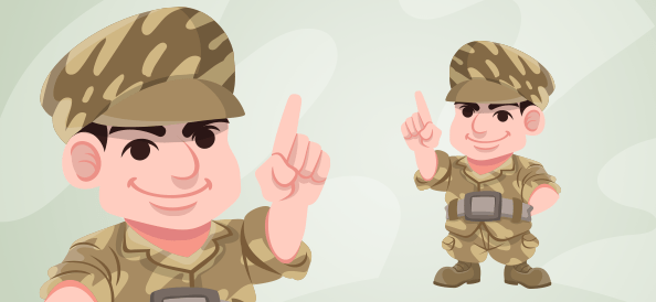 Vector Military Man