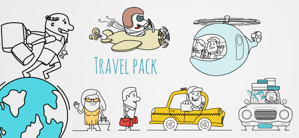 Outline Travel Graphic Pack Vol.2