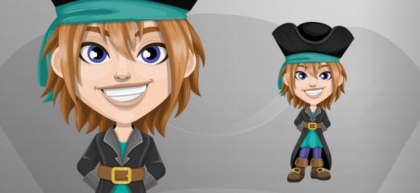Smiling Pirate Boy