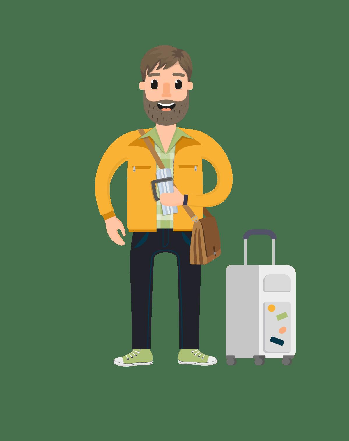 Cartoon Characters Vector : Travel vector character set characters