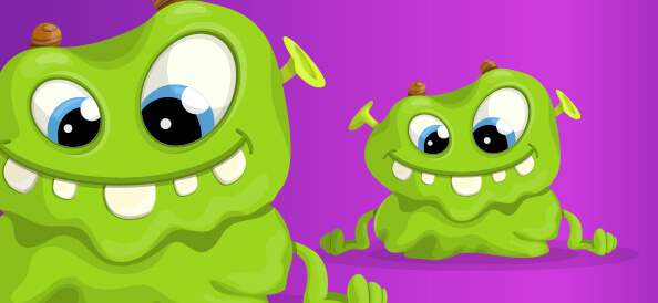 Green Monster Vector Character