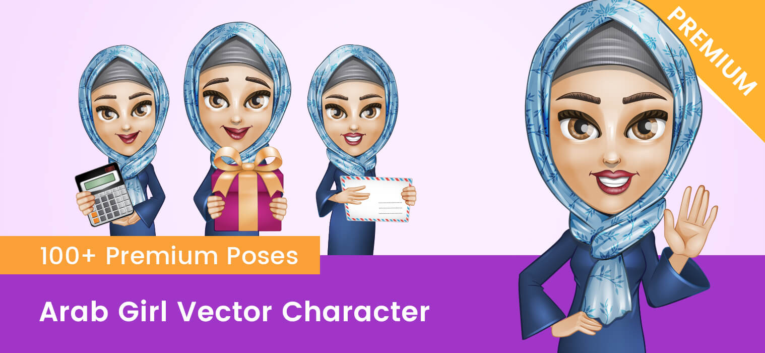 Arab Girl Vector Character