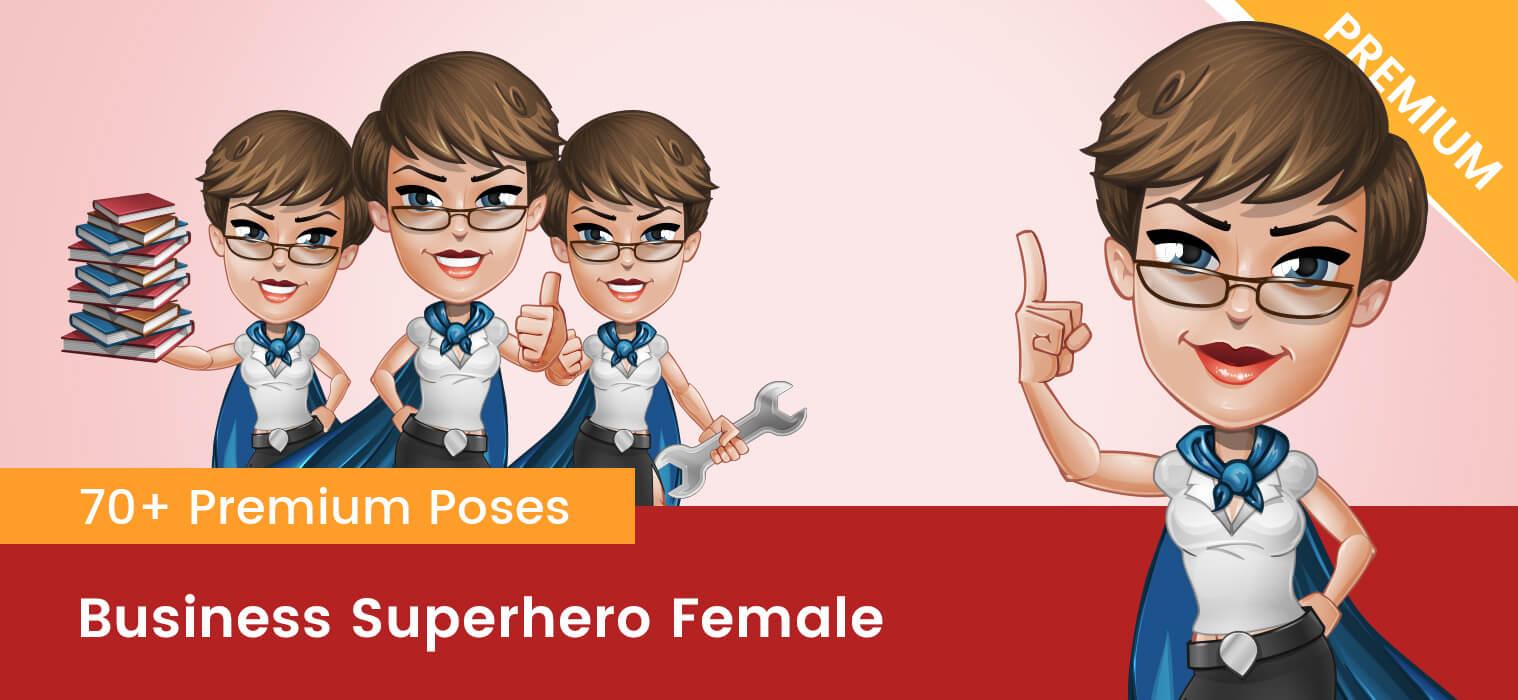Business Superhero Female Vector