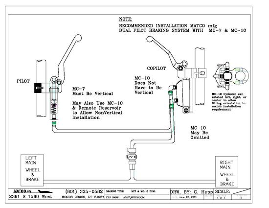 Hydraulic Schematic for MC-7  MC-10 Dual
