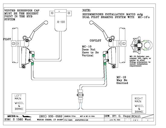 Hydraulic Schematic forDual MC-10 w Remote