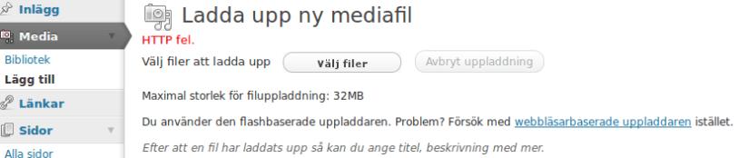 WordPress-fel…