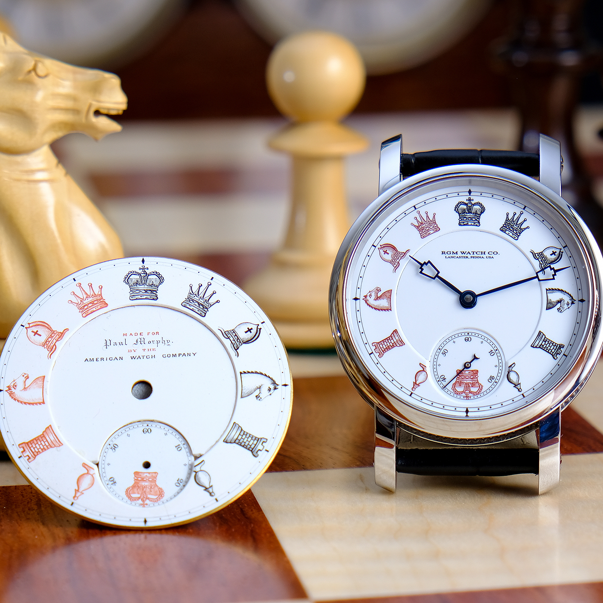 American Made Alarm Clock Made In America Rgm Pa Series 801 Watch Celebrates Chess