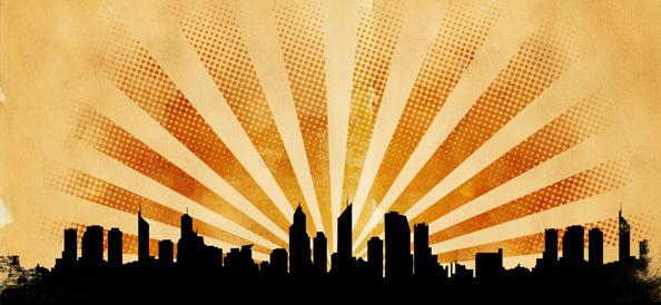 Grunge City Background Set