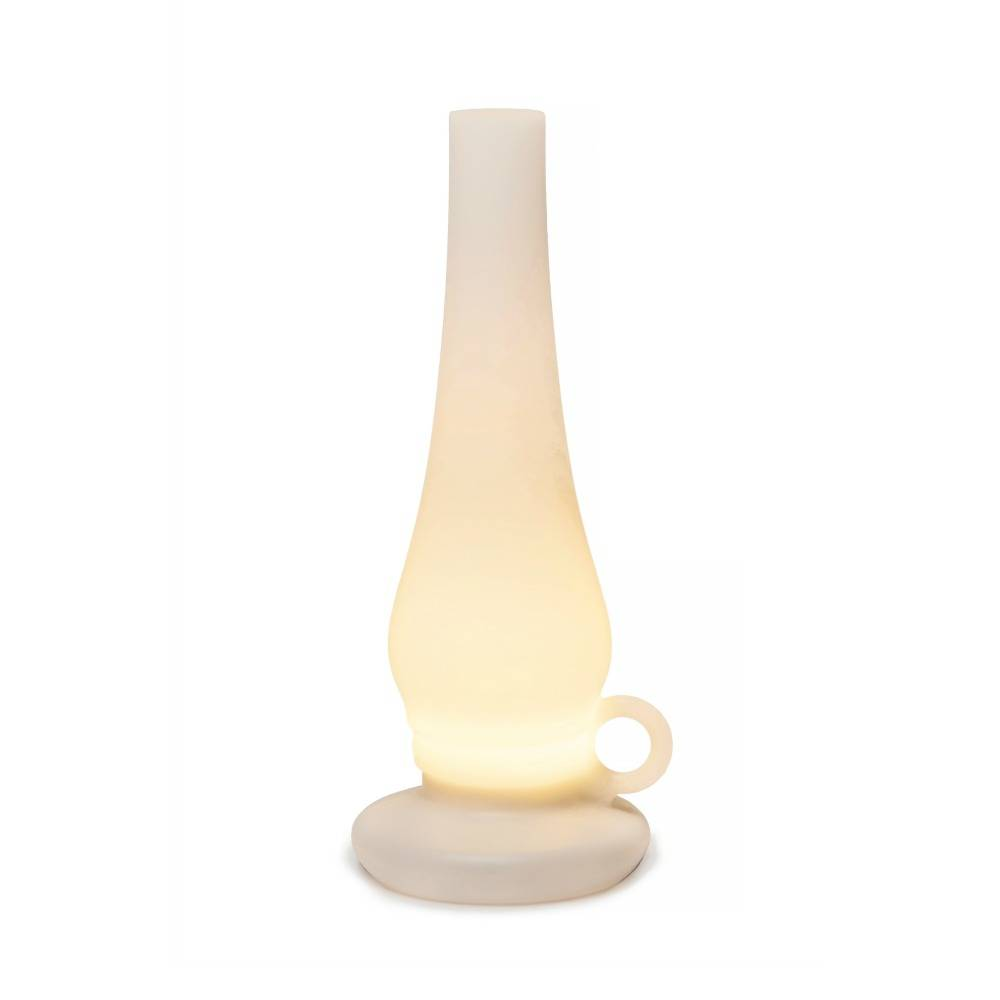 Led Küchenlampe Xala Lampe De Table Led Lilly ø31x12cm En Plastique Blanc Sans Fil