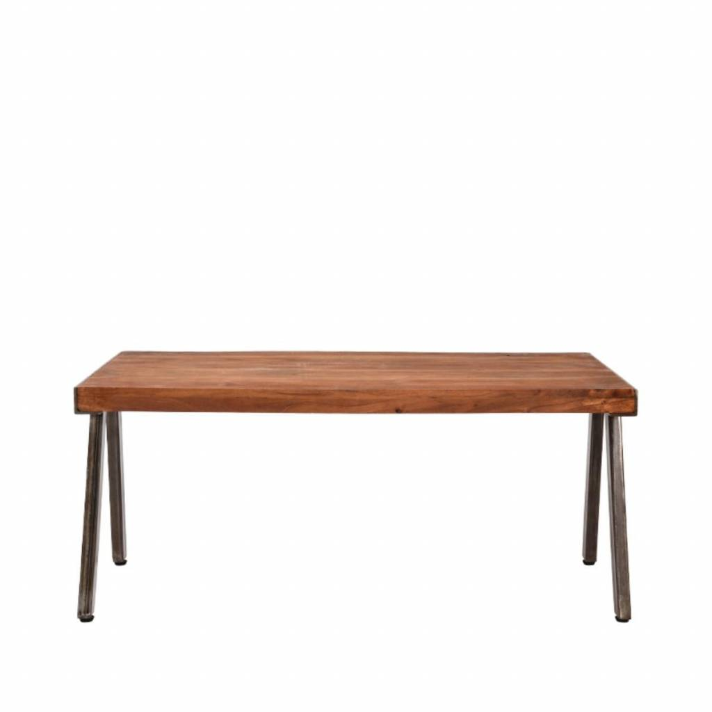 Couchtisch Aus Metall Lef Collections Levi Brown Holz Couchtisch Metall 100x60x44cm