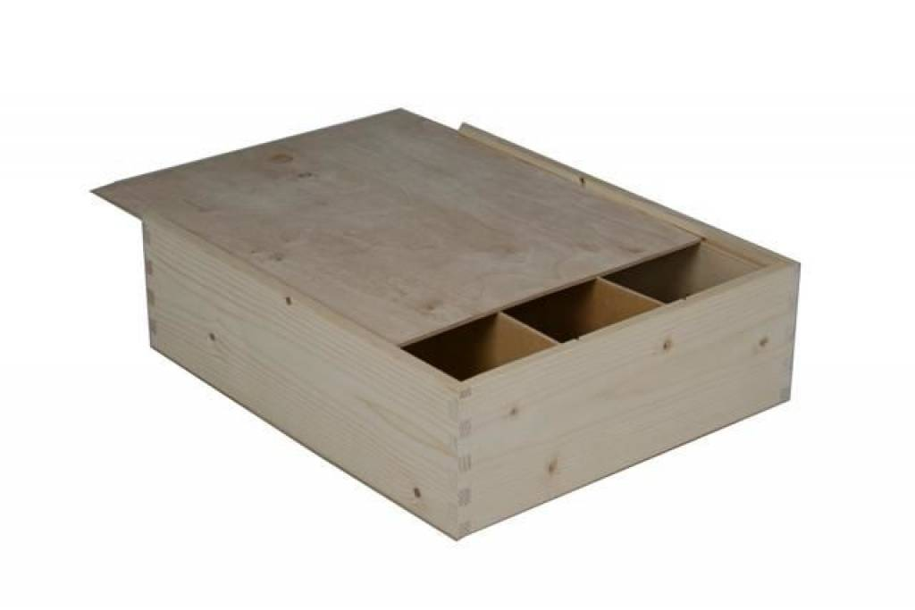 Buy Cheap Three Bin Wine Boxes With Sliding Lid Goods