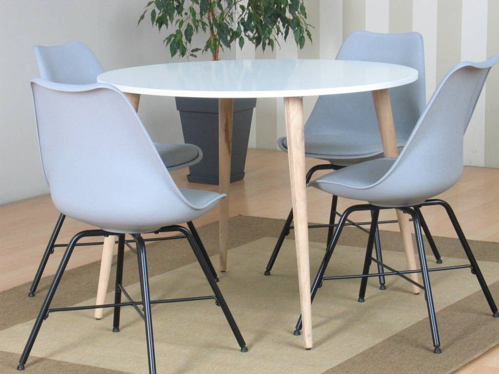 Eetkamerset ronde tafel ronde tafel diameter 180 enorm ronde