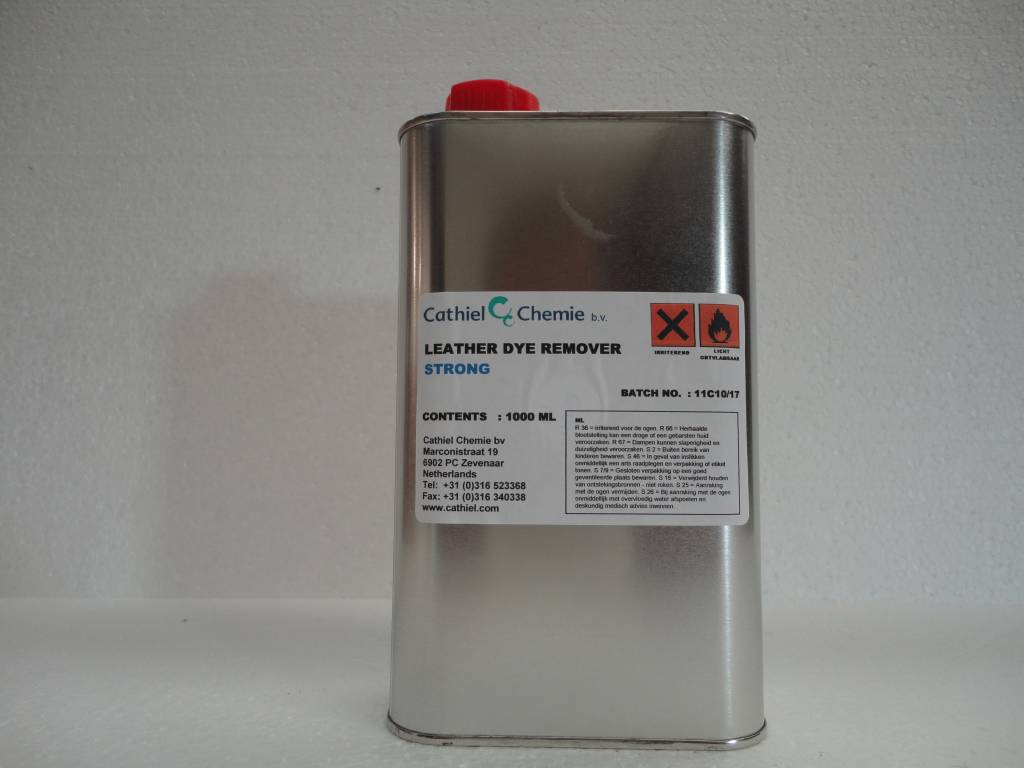Fauteuil Goedkoop Leather Dye Remover Strong (1000 Ml) | Profileder.nl