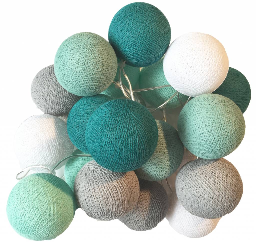 Bollen Lichtslinger Cotton Ball Lights Bollen Lichtslinger Mint Studiozomooi