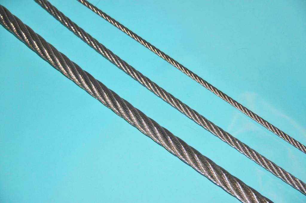 Staalkabel 1mm Rvs Kabel Constructie 7x7 In Diameter 0,63 T/m 8mm. - Rvs