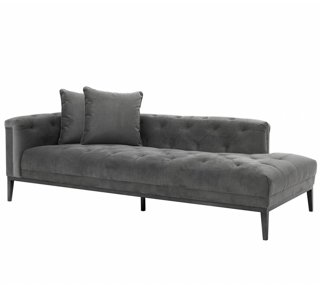 Bank Chaise Lounge Lounge Sofa Cesare Left Eichholtz Grijze Bank Sofa