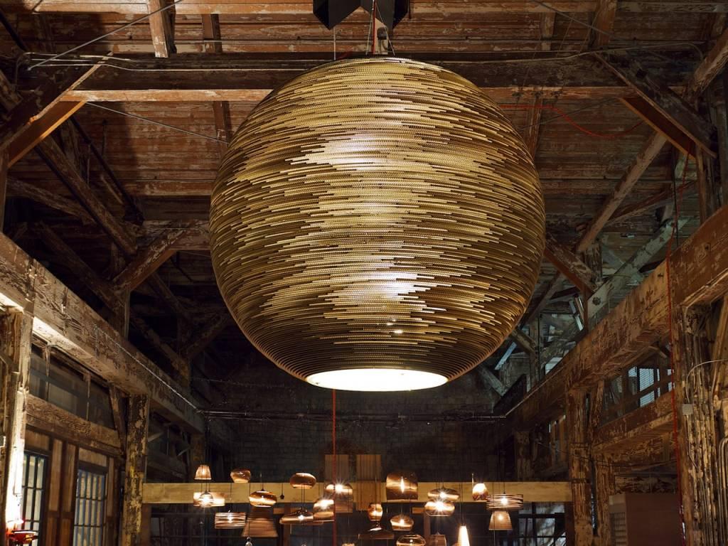 Grey Pants Lampen : Braune lampe graypants hängelampe drum aus karton braun Ø cm