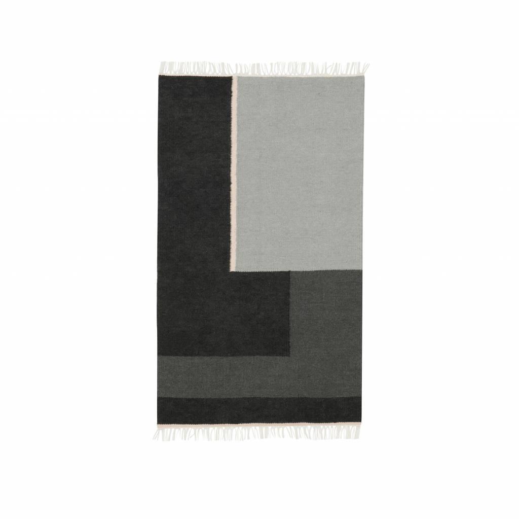Ferm Living Couchtisch Ferm Living Teppich Kelim Section Grau Small 80x140cm