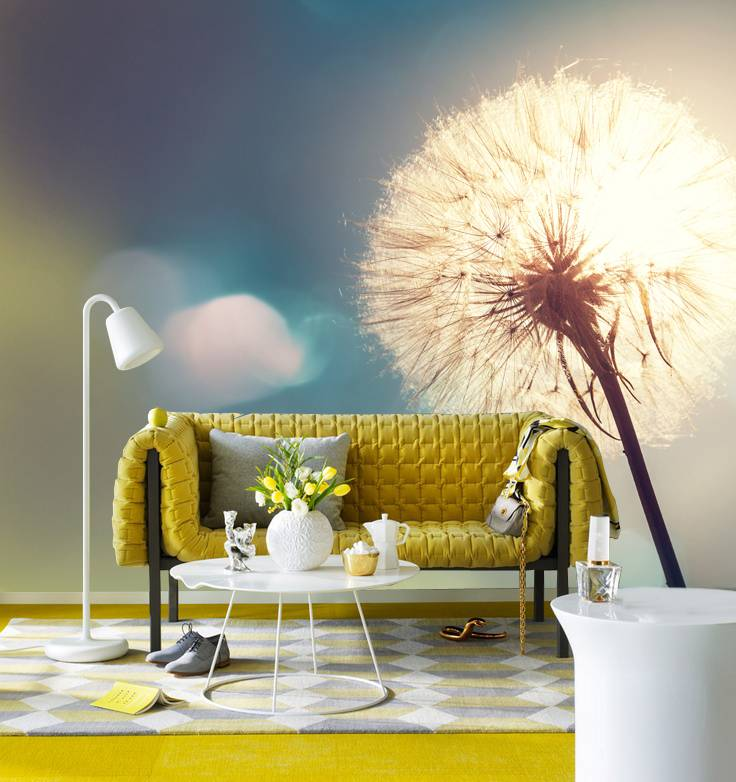 Steen Behang 3d Fotobehang Paardenbloem 2 - Walldesign56.com