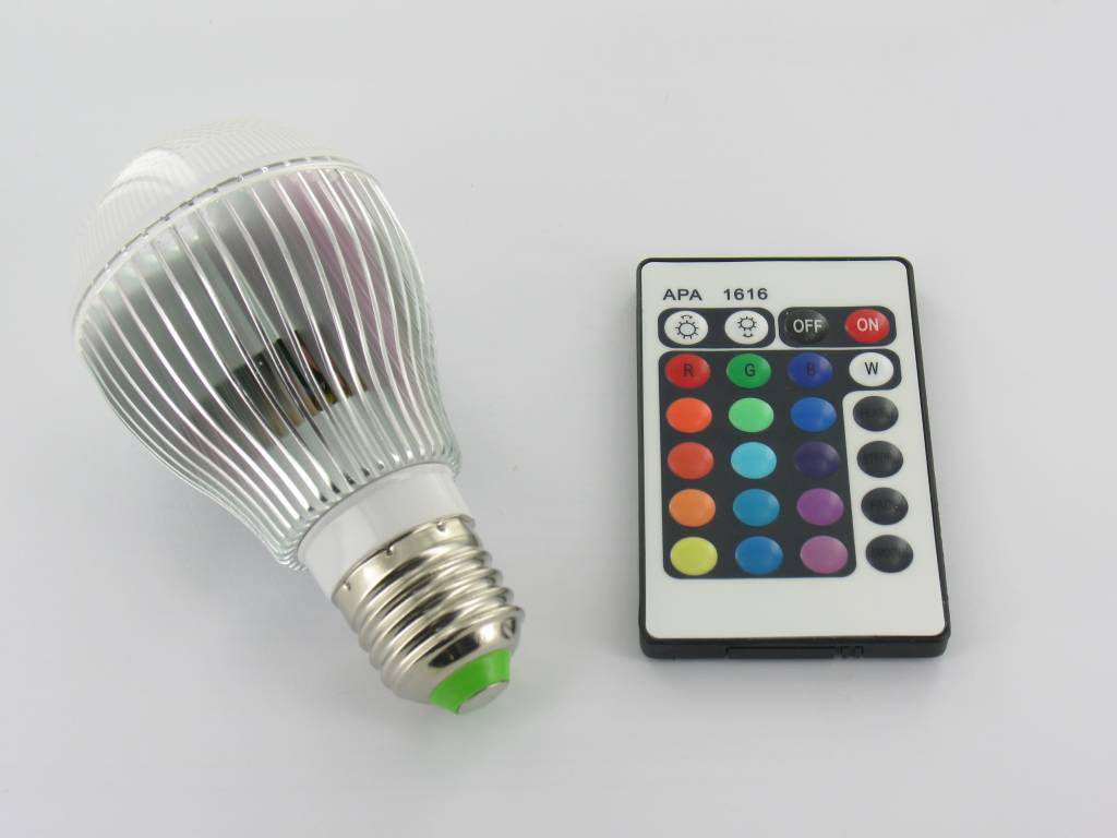 9 Watt Led Rgb 9 Watt Led 39bulb 39 E27 Met Ir Afstandsbediening