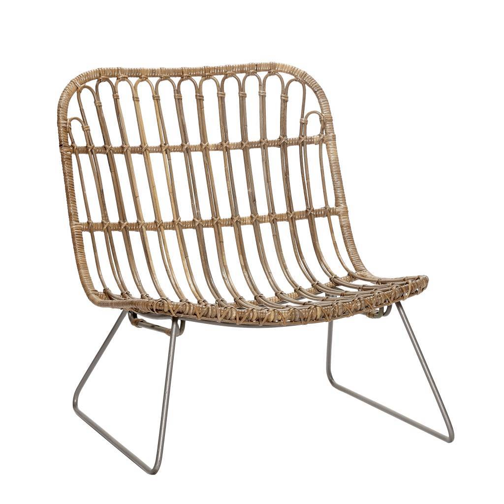 Rattan Lounge Sessel Hübsch Rattan Lounge Chair Natural
