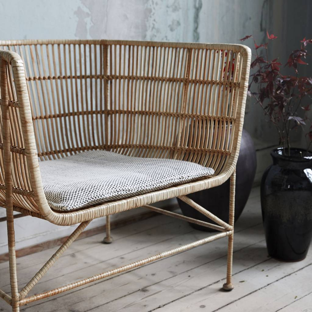 Rotan Loungestoel House Doctor Coon Natural Rotan Loungestoel - Living And Co.