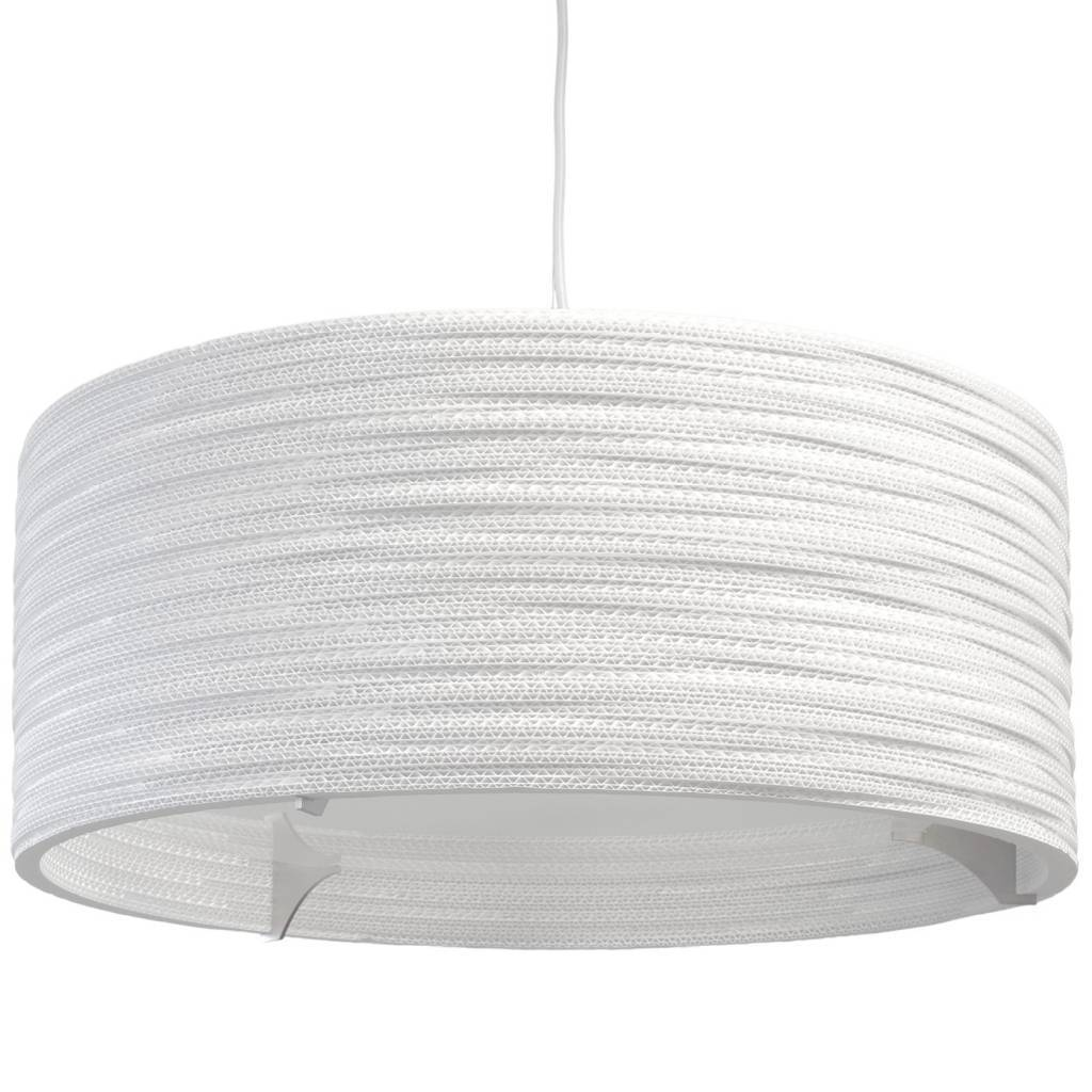 Lampe Pappe Graypants Drum24 Hanging Lamp White Living And Co