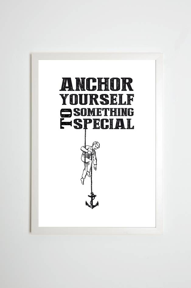"Sitzbank Beton Kaltenbach's Töchter Poster ""anchor Yourself To Something"