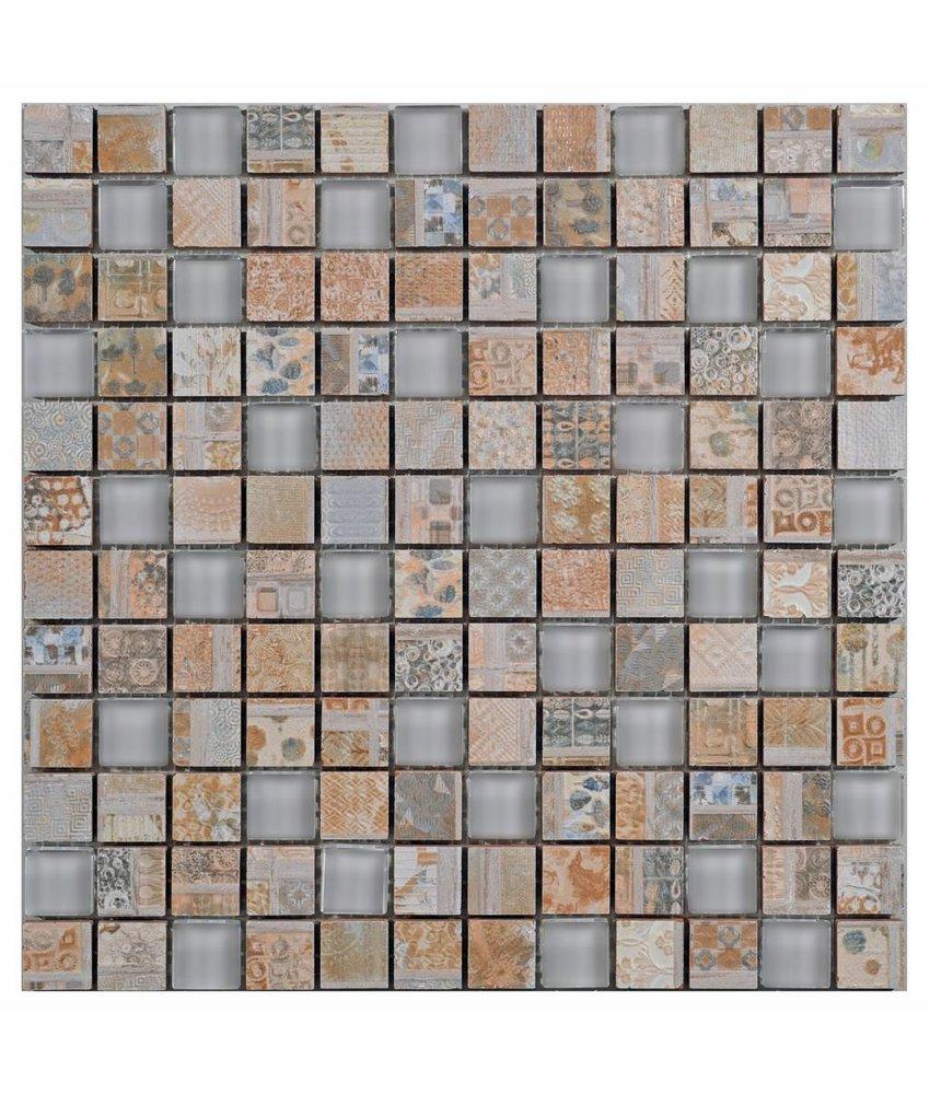 Fliesen Mosaik Windrose Marmor Rosone 60x60 Cm Kompass Naturstein
