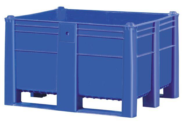 Plastic Box Pallet 1200x1000x740 O 600l Blue Solid Genteso