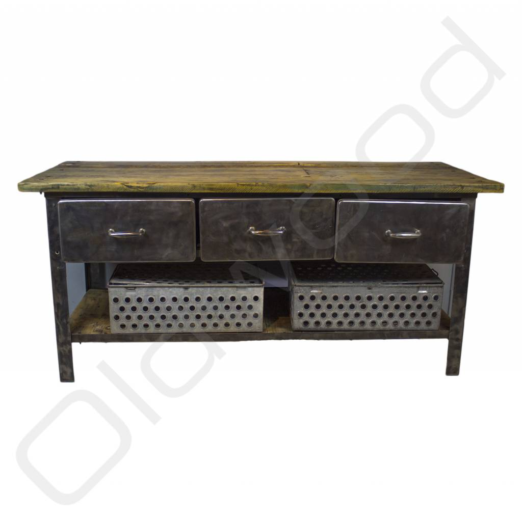 Industriele Kast Hout Metaal Industriele Dressoir Kast Interesting Share This With