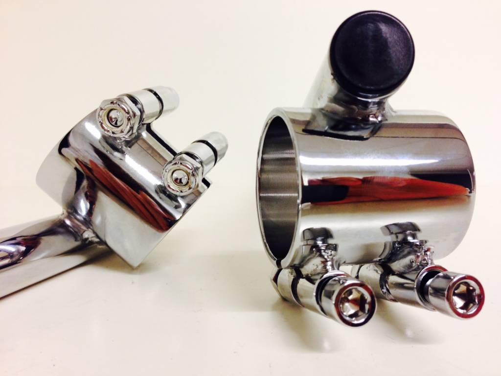 Clip Ons Emgo 41mm Chrome Clipons Triumph Bmw Etc Caferacerwebshop
