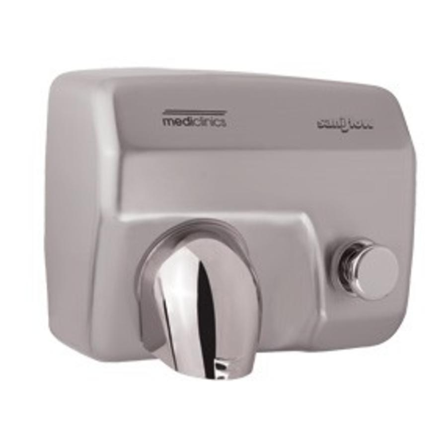 Händetrockner World Dryer Mediclinics Hand Dryer Stainless Steel Mat With Button Powerful